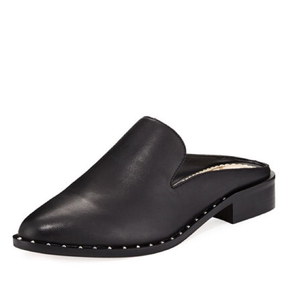 7f9d5889f Sam Edelman Lewellyn Mule (Black Leather). M 5b4ed0482beb79206ba59938